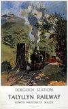 'Dolgoch Station', Talyllyn Railway poster, c 1960s.