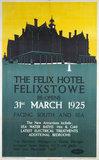'The Felix Hotel, Felixstowe', LNER poster, 1925.