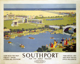 'Southport for the Family Holiday', BR (LMR) poster, c 1950s.