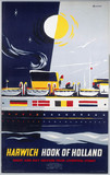 'Harwich - Hook of Holland', BR poster, 1963.