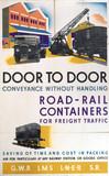 'Door to Door', GWR/LMS/LNER/SR poster, 1923-1947.