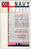 'Navy Week', SR poster, 1937.