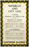Waterloo & City Line, SR poster, 1941.