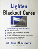 'Lighten Blackout Cares', GWR/LMS/LNER/SR poster, 1939-1945.