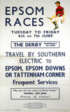 'Epsom Races', BR poster, 1957.