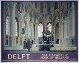 'Delft, Via Harwich & Hook of Holland', LNER poster, 1923-1947.