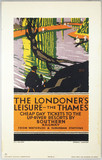 'The Londoner's Leisure - The Thames', SR poster, 1926.