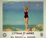 'Lytham St Annes for Sea Breezes and Sunshine', LMS poster, 1923-1947.