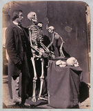 Reginald Southey with skeletons and skulls, 1858-1859.