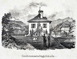'The Mining Establishment Buildings', Durrnberg, Austria, 19th century.