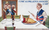 'Come Along, Gents, Dinner's Ready', c 1914-1918.