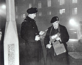 Smog wardens, London,1955.
