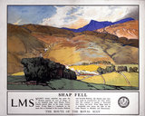'Shap Fell - The Route of The Royal Scot', LMS poster, 1925.