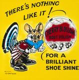 Advertisement for Cherry Blosom boot polish, c 1950.