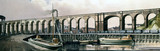 'Ditton Viaduct, Lancashire', BR (LMR) carriage print, early 1950s.