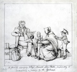 'A family applying Wray's Aromatic Spice Plaster...', 1835.