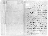Letter from George Stephenson to Ellen Gregory, c 1840-1848.