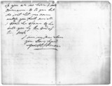 Letter from George Stephenson to Ellen Gregrory, c 1840-1848.