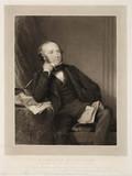 Rowland Hill, originator of the penny post, 1848.
