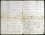 Letter from Samuel Clark to his sister, February 1856.