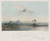 Henson's 'Ariel' above the Pyramids, Egypt, 1843.