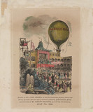 Green&#039;s ascent in the &#039;Albion&#039; balloon, 7 July 1845.