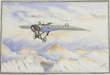 Morane-Saulnier monoplane crosing the Alps, c 1912.