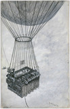 'An experiment to test the sustaining power of Andre's balloon', 1900.