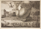 'The English Balloon', 1784.