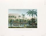View of a village at Matavai, island of Tahiti, 1822-1825.