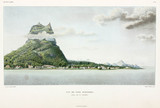 View of the the island of Bora-Bora, Society Islands, 1822-1825.