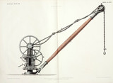 Wheel and axle; elevation of a crane, 1842-1846.
