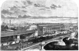 Blackfriars Bridge and Station, London, 1863.