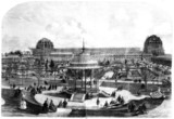 Construction of the International Exhibition, London, 1862.