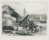Demolition of the old London Bridge, 1832.