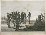 Aboriginal ceremony of 'striking out teeth', Australia, 1798.