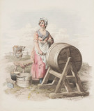 'Woman Churning Butter', 1808.