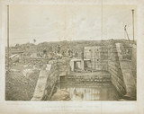 'South Gate House, New Reservoir, during Construction', New York, 1862.