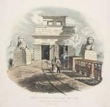'The Britannia Tubular Bridge. Entrance from the Bangor Side', Wales, c 1855.