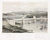 'The Britannia Tubular and Menai Suspension Bridges', Wales, c 1860.