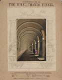 'Transparent view of the Royal Thames Tunnel', London, 1834.