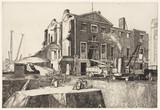 Demolition site, 1910s.