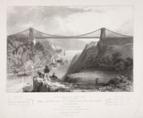 Clifton Suspension Bridge, Bristol, c 1834.