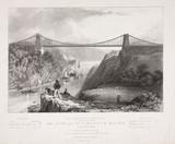 Clifton Suspension Bridge, Bristol, c 1834.