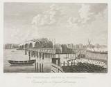 'The Temporary Bridge at Blackfriars', London, 1760s.