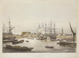 'Regent's (or London) Canal - the Limehouse Dock', London, c 1825.