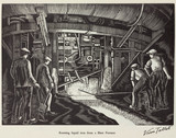 """'Running liquid iron from a Blast Furnace', 20th century."""