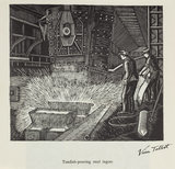 'Tundish-pouring steel ingots', 20th century.