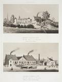 Two glas factories, Belgium, c 1830-1860.