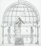 Cros-section of the 40 inch Yerkes Telescope, 1915.